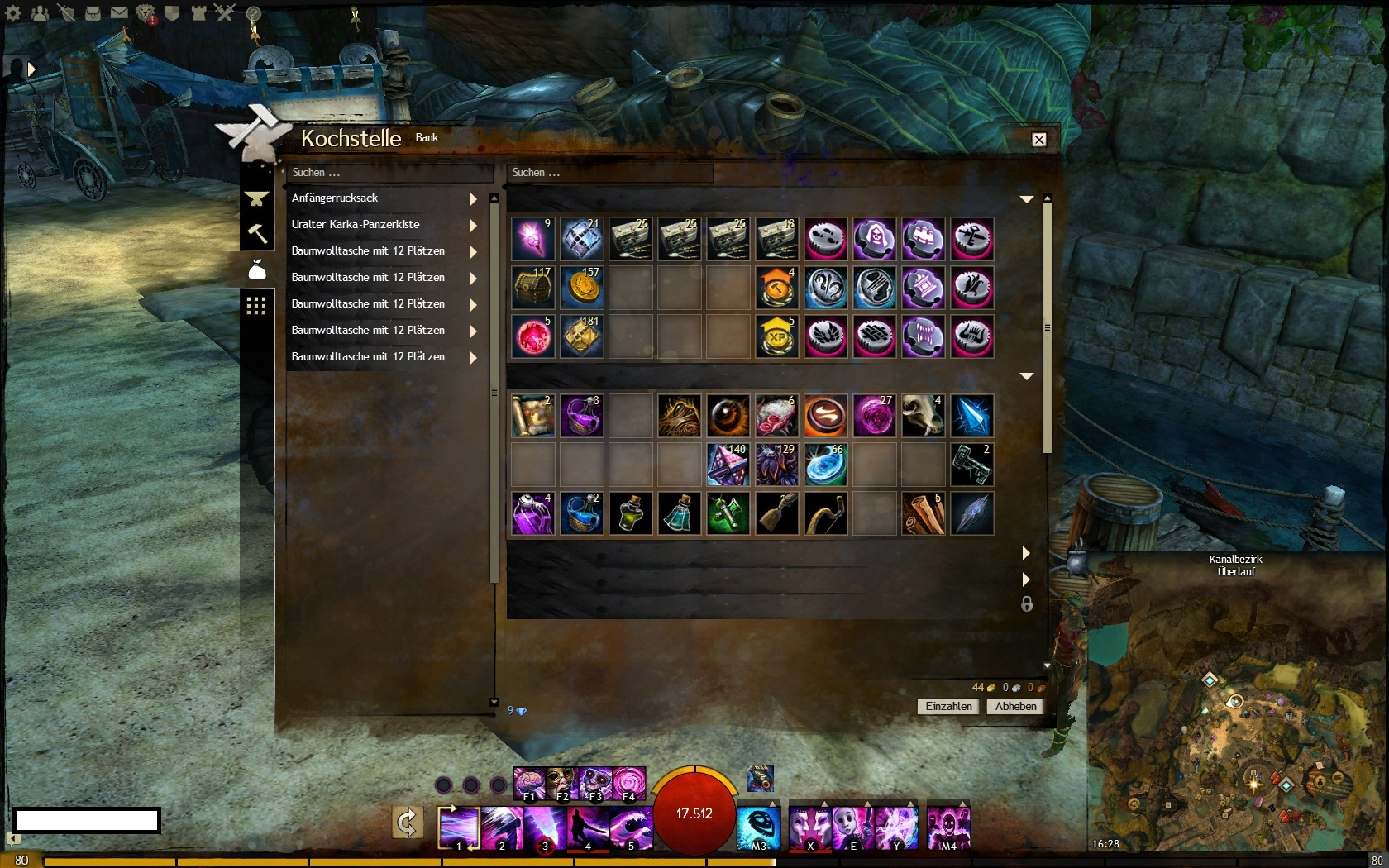 Backpack slot gw2